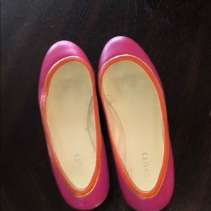 Pink flats with orange trim from Talbots